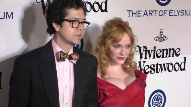 Geoffrey Arend and Christina Hendricks at The Art of Elysium's 9th Annual HEAVEN Gala at 3LABS in Culver City at Celebrity Sightings in Los Angeles...