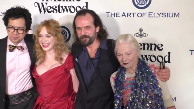 Geoffrey Arend Christina Hendricks and Vivienne Westwood at The Art of Elysium's 9th Annual HEAVEN Gala at 3LABS in Culver City at Celebrity...
