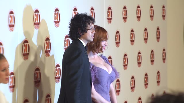 geoffrey arend christina hendricks at the entertainment tonight emmy party at vibiana at hollywood ca - christina hendricks stock videos and b-roll footage