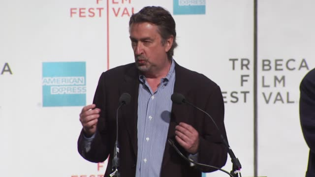 geoffrey gilmore talks about the festival's new offerings. at the tribeca film festival opening press conference at new york ny. - tribeca festival stock videos & royalty-free footage