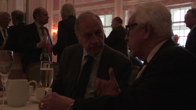 geoffrey palmer; barry cryer - the oldie's at simpsons in the strand on february 12, 2013 in london, england - barry cryer stock videos & royalty-free footage
