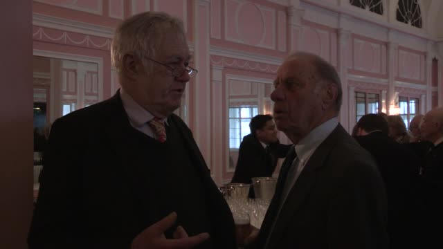 geoffrey palmer richard ingrams the oldie's at simpsons in the strand on february 12 2013 in london england - geoffrey palmer stock videos and b-roll footage
