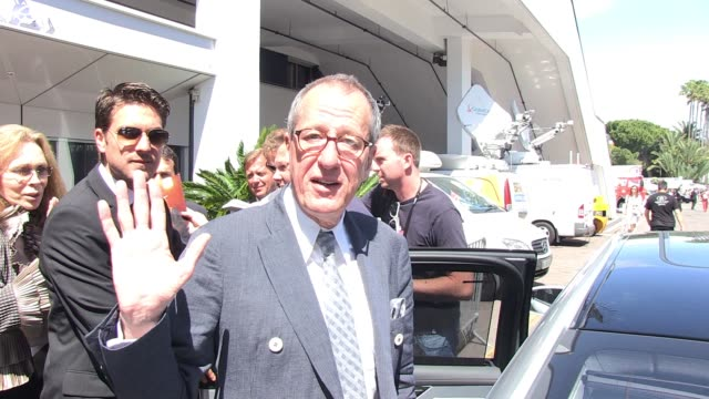 geoffrey rush at the day 5 celebrity sightings - 64th cannes film festival at cannes . - day 5 stock videos & royalty-free footage