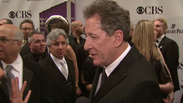 Geoffrey Rush discusses what makes the Tonys different from other awards shows following the Tonys for years on television what makes the theater so...