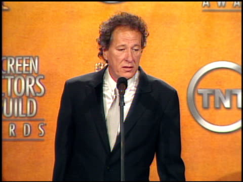 Geoffrey Rush winner for Outstanding Male Actor in a TV Movie or Miniseries for 'The Life and Death of Peter Sellers' at the 2005 Screen Actors Guild...