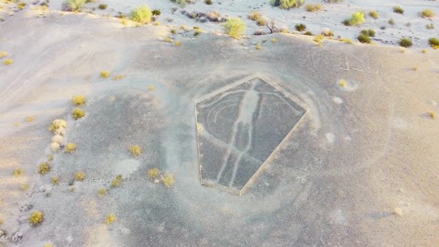 ws aerial geoglyph image of a human being - human representation stock videos and b-roll footage