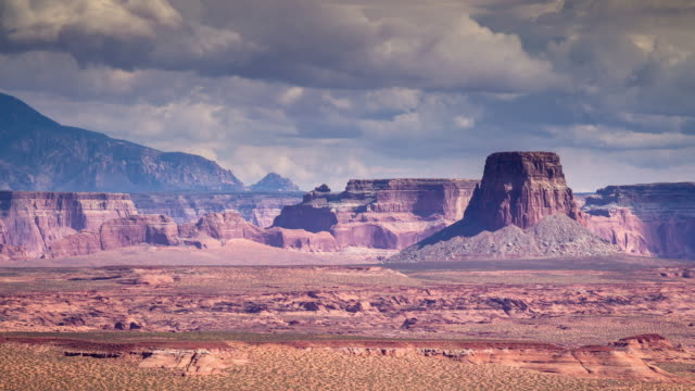 Geologic Formations on Utah/Arizona Border near Lake Powell (Timelapse).