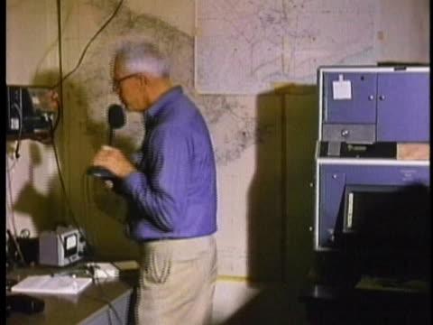 1970 MS Geologist talking on transeiver radio / Hawaii / AUDIO