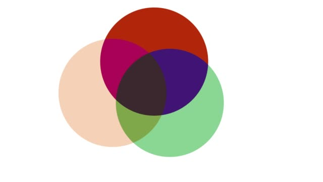 geometrc colour shapes: circles - morphing stock videos & royalty-free footage
