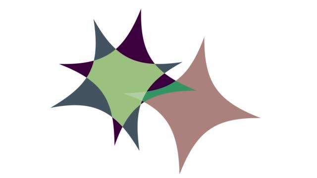 geometrc colour shapes: diamonds - morphing stock videos & royalty-free footage
