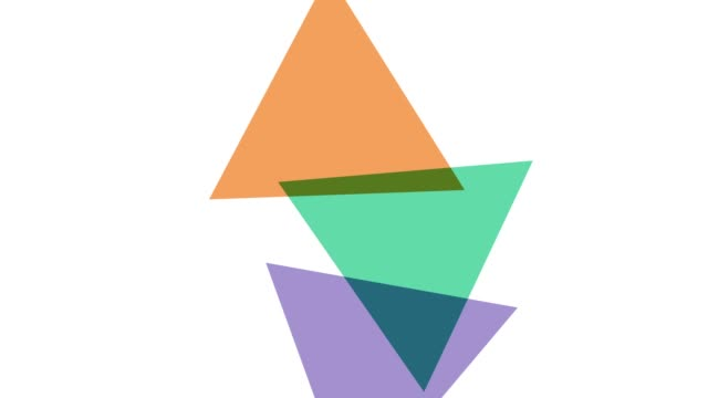 geometrc colour shapes: triangles - morphing stock videos & royalty-free footage