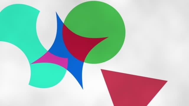 geometrische farbformen - morphing stock-videos und b-roll-filmmaterial