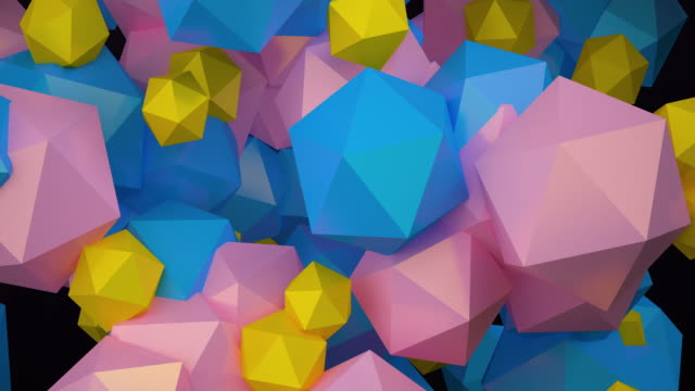 geometric 3d rendering floating. concept: abstract background , motion graphic , party. - digital animation stock videos & royalty-free footage