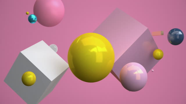 geometric 3d rendering floating. concept: abstract background , motion graphic , party. - still life stock videos & royalty-free footage
