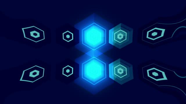 Animados forma geométrica de fondo