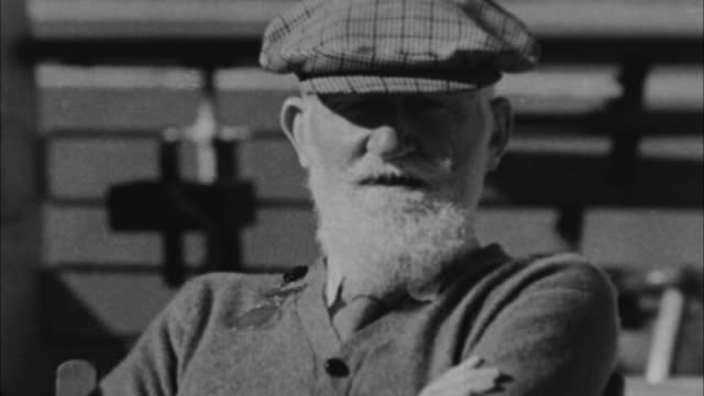George Bernard Shaw talking about King Edward getting married / Miami Florida USA