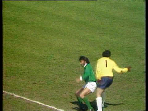 George Best impudently kicks ball over head of England goalkeeper Gordon Banks before outpacing him and heading into empty net Best is adjudged to...