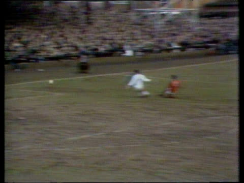 stockvideo's en b-roll-footage met george best sets new scoring record for manchester united after scoring six goals in fa cup tie northampton town vs manchester united fa cup fifth... - fa cup