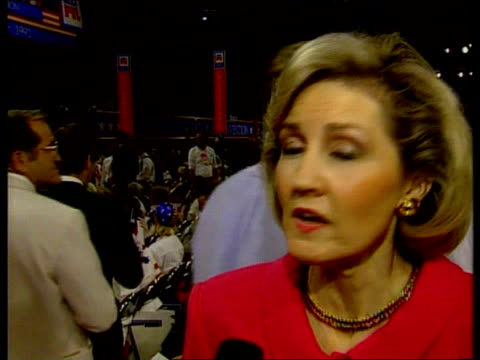 george bush attacks democratic presidential candidate bill clinton in convention speech usa texas houston houston astrodome kay michelson interview... - bill clinton stock videos and b-roll footage