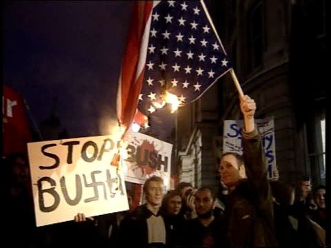 antibush demonstrations also available - visit stock videos & royalty-free footage