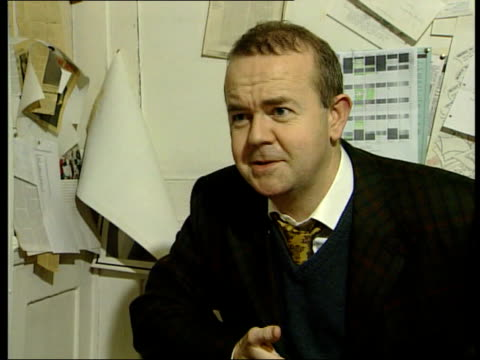george carman dies itn int ian hislop interview sot george would always have some fantastic piece of evidence that he would reveal at the last minute... - ian hislop stock videos and b-roll footage