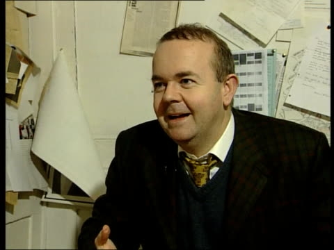 george carman dies; itn int ian hislop interview sot - he turned courtroom drama into courtroom melodrama, he was the first libel lawyer to... - ian hislop stock videos & royalty-free footage
