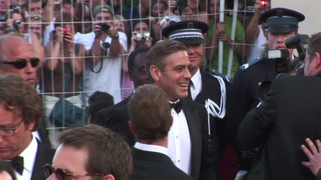 george clooney 2007 cannes oceans 13 at cannes film festival on october 01 2012 in cannes france - george clooney stock videos and b-roll footage