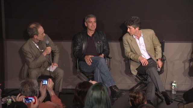 George Clooney and Alexander Payne talk about how Clooney and Payne came together to work on the project at the 'The Descendants' 49th Annual New...