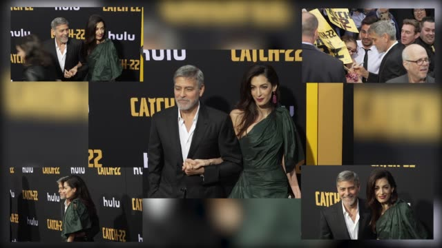 George Clooney and Amal Clooney at the US Premiere of Hulu's 'Catch22