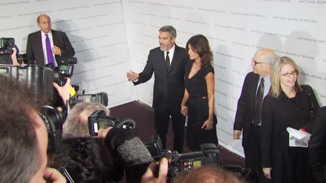 george clooney and elisabetta canalis at the 2010 national board of review awards gala at new york ny - 2010 stock videos & royalty-free footage