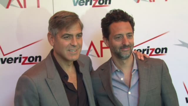 george clooney and grant heslov at the 13th annual afi awards luncheon in beverly hills ca on 1/11/13 - george clooney stock videos and b-roll footage