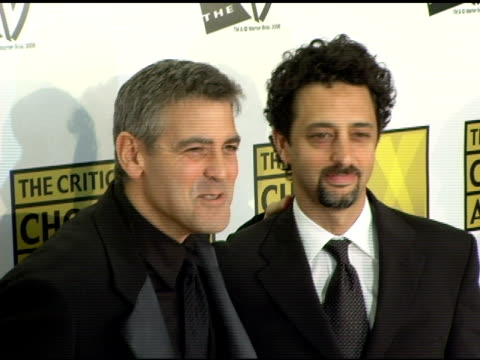 george clooney and grant heslov at the 2006 critics' choice awards arrivals at santa monica civic auditorium in santa monica california on january 9... - 2006 stock videos & royalty-free footage
