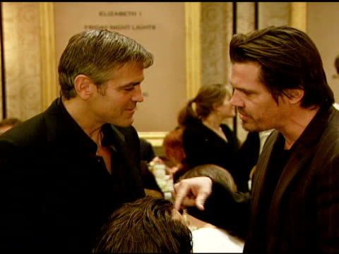 george clooney and josh brolin at the 2007 afi awards honors creative teams at four seasons hotel in los angeles calfironia on january 11 2008 - 2008 stock videos & royalty-free footage