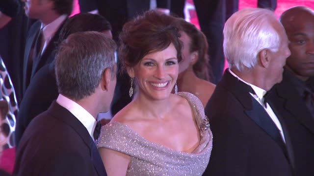 """george clooney and julia roberts at the """"superheroes: fashion and fantasy"""" costume institute gala at the metropolitan museum of art at the... - julia roberts stock videos & royalty-free footage"""