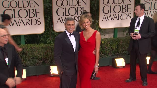 George Clooney and Stacy Keibler at 69th Annual Golden Globe Awards Arrivals on January 15 2012 in Beverly Hills California