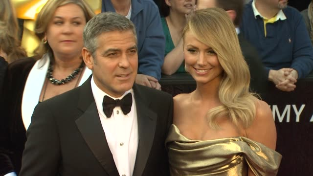 George Clooney and Stacy Keibler at 84th Annual Academy Awards Arrivals on 2/26/2012 in Hollywood CA
