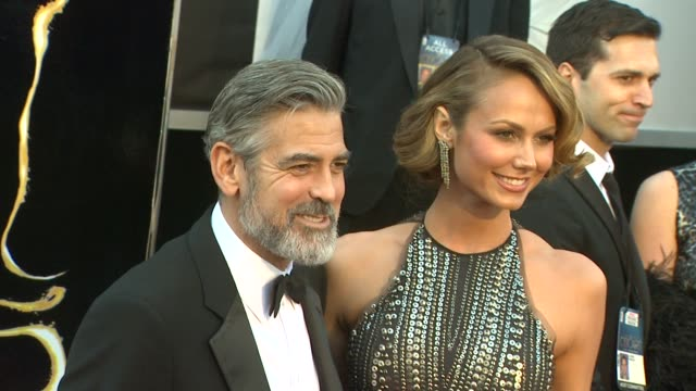 George Clooney and Stacy Keibler at 85th Annual Academy Awards Arrivals in Hollywood CA on 2/24/13