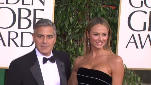 George Clooney and Stacy Keibler at the 70th Annual Golden Globe Awards Arrivals in Beverly Hills CA on 1/13/13