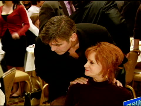 George Clooney and Swoosie Kurtz at the 2007 AFI Awards Honors Creative Teams at Four Seasons Hotel in Los Angeles Calfironia on January 11 2008