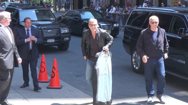George Clooney arrives at the 'Late Show with David Letterman' Celebrity Sightings in New York on May 14 2015 in New York City New York