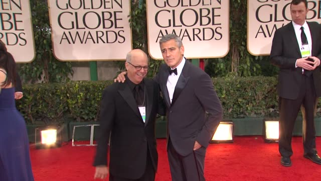 george clooney at 69th annual golden globe awards arrivals on january 15 2012 in beverly hills california - george clooney stock videos and b-roll footage