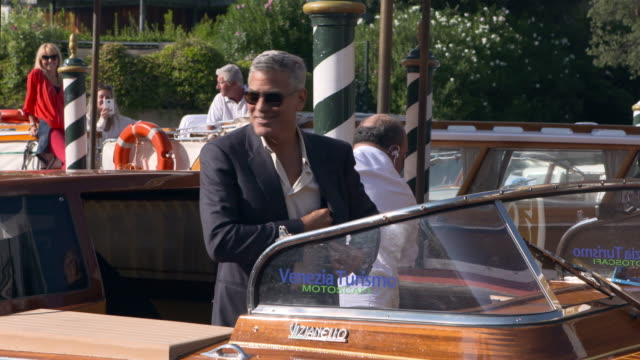 George Clooney at Celebrity Sightings in Venice on September 01 2017 in Venice Italy