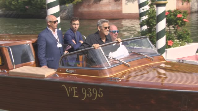George Clooney at Celebrity Sightings in Venice on September 02 2017 in Venice Italy