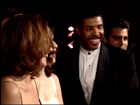 george clooney at the 1995 golden globe awards at the beverly hilton in beverly hills, california on january 21, 1995. - george clooney stock videos & royalty-free footage