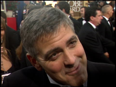 george clooney at the 2006 golden globe awards at the beverly hilton in beverly hills california on january 16 2006 - 2006 stock videos & royalty-free footage
