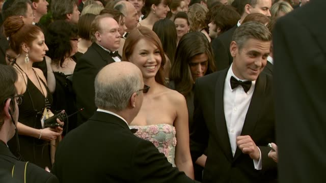 george clooney at the 2008 academy awards at the kodak theatre in hollywood california on february 24 2008 - 2008 stock videos & royalty-free footage