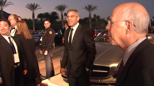 george clooney at the 23rd annual palm springs international film festival awards gala on 1/7/2012 in palm springs ca - george clooney stock videos and b-roll footage