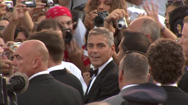 George Clooney at the 65th Venice Film Festival Burn After Reading Premiere at Venice