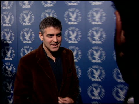 george clooney at the dga nominee symposium at dga theater in los angeles california on january 28 2006 - 2006 stock videos & royalty-free footage