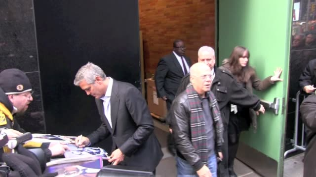 george clooney at the 'good morning america' show studio in new york on 1/10/2012 - good morning america stock videos and b-roll footage